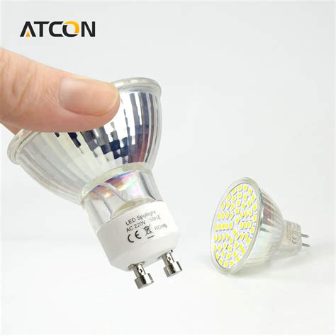 1pcs heat resistant glass led spotlight bulb gu10 mr16 gu5