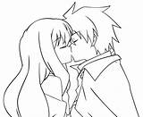 Anime Coloring Kiss Pages Lineart Louise Saito Kissing Drawing Couples Template Cuddling Sketch Deviantart Nightcore Templates Edit sketch template