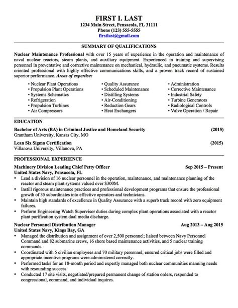 sample military civilian resumes hirepurpose conversion