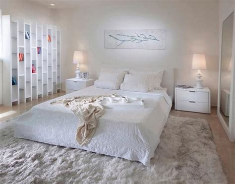 modern ideas  add interest  white bedroom decorating