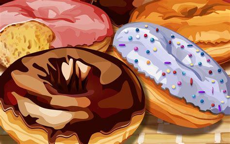 cuisine illustration donuts donuts wallpaper