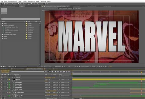 marvels logo reveal template  adobe  effects