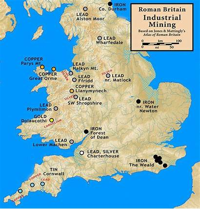 Britain Roman Mining Map Gold Romans Ancient