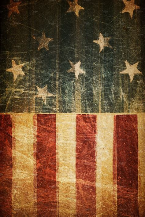 grunge american flag abstract  creative market