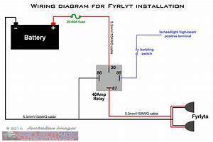 Fog Light Relay Wiring Diagram Positive Ground