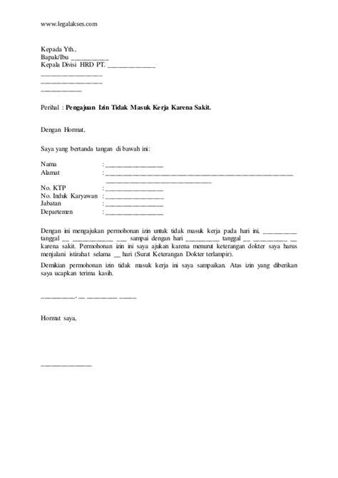 Surat Ijin Tidak Masuk Kerja by Contoh Surat Izin Tidak Mengikuti Ospek Cara Ku Mu