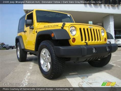 yellow jeep interior detonator yellow 2008 jeep wrangler rubicon 4x4 dark