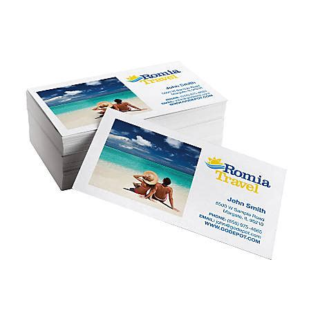 day business cards     matte white box