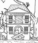 Haunted Coloring Pages Colouring Cool2bkids Mansion Printable Drawing Halloween Spooky Scary Houses sketch template