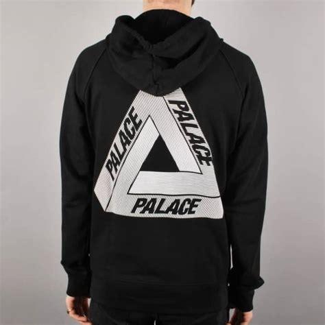 print hooded zip jacket palace skateboards palace tri line zip hoodie black