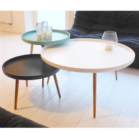 table basse ronde laque blanc table basse blanc laqu 233 ronde 4 id 233 es de d 233 coration int 233 rieure decor