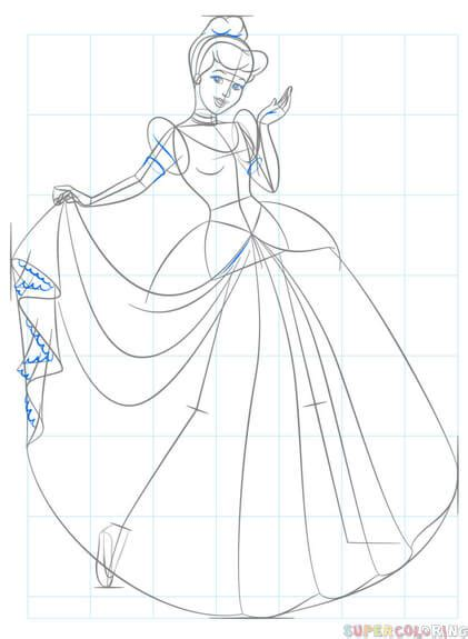 draw cinderella step  step drawing tutorials
