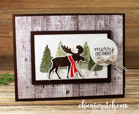 merry moose fun fold card chic n scratch
