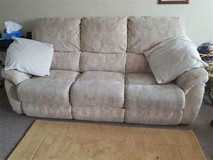 Lazy Boy Static Sofa And Matching Manual Reclining Chair