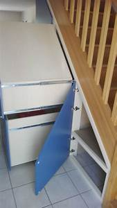 Placard Escalier : placard sous escalier menuiserie fagot ~ Carolinahurricanesstore.com Idées de Décoration