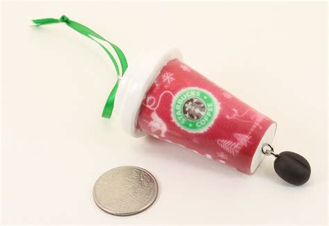 starbucks coffee cup christmas ornament kitsch mto latte