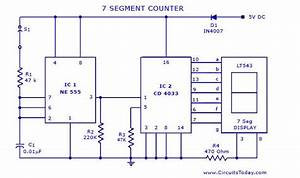 7 Segment Counter Circuit