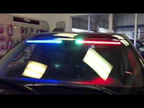 hg emergency lighting front visorinterior light bar