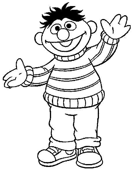 Coloring pages bert and ernie - picture 21