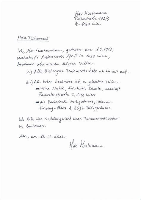 testament handschriftlich sammlungen von  testament