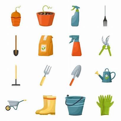 Gardening Cartoon Shovel Garden Elements Equipment Tool