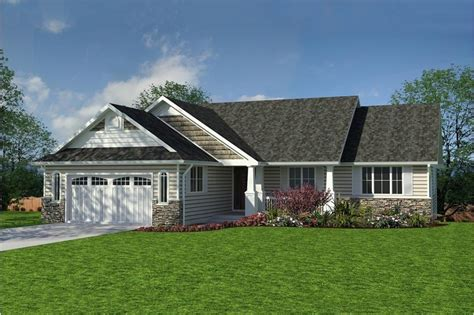 ranch craftsman arts  crafts house plan house plan