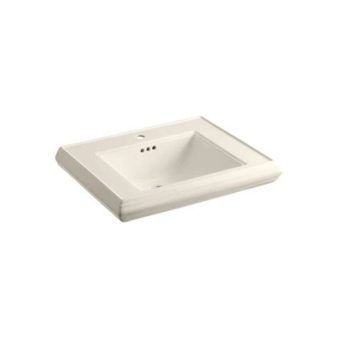 kohler memoirs 5 3 8 in ceramic pedestal sink basin sink
