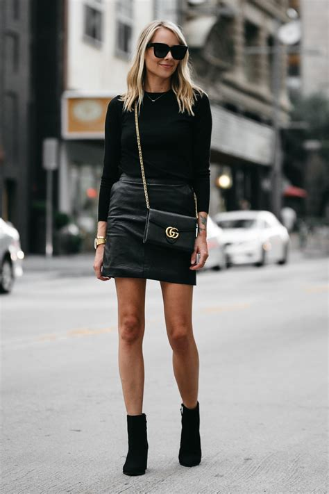 A STYLISH WAY TO WEAR A BLACK LEATHER MINI SKIRT | Fashion Jackson