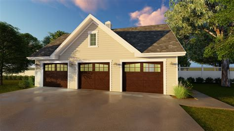 Detached 3 Car Garage Plan  62641dj  Cad Available, Pdf
