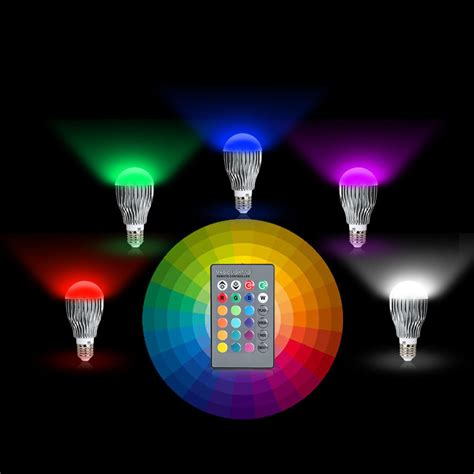 how to change the color of an led light 16 colors changing 9w magic e27 rgb led l light bulb