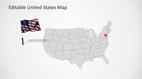 united states map template  powerpoint slidemodel