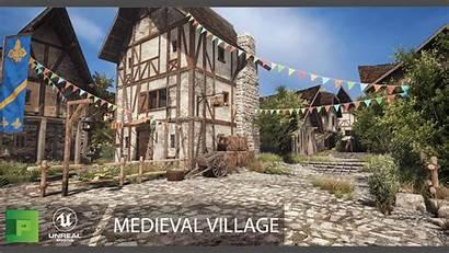 Medieval Village Unreal Engine Marketplace Pack Ue4