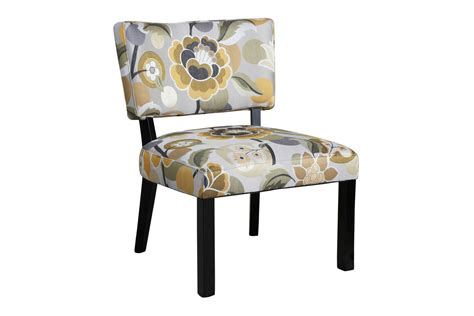 yellow gray floral accent chair powell 383 631