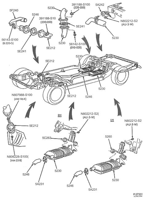 Ford Crown Victoria Police Interceptor Exhaust Parts