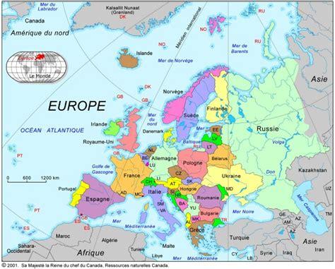 Carte Europe Et Ses Capitales by Carte De L Europe Et Ses Capitales