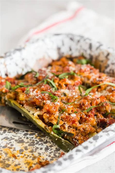 Chicken Parmesan Zucchini Boats by Chicken Parmesan Stuffed Zucchini Boats Nutmeg Nanny