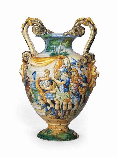 cantagalli maiolica  handled vase late  century