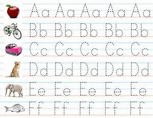 set of 3 laminated alphabet number sheets for writing With preschool letter writing