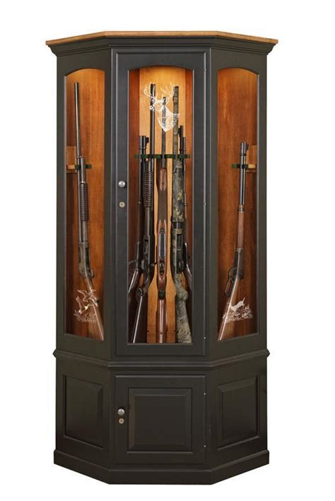 Gun Cabinets For Sale by Custom Wooden Corner Gun Cabinet By Dutchcrafters Amish