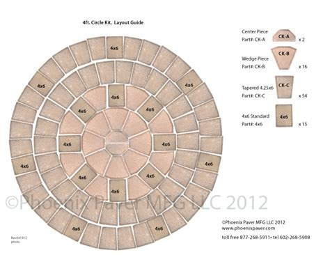 pavers circle kit 4ft layout guide photo
