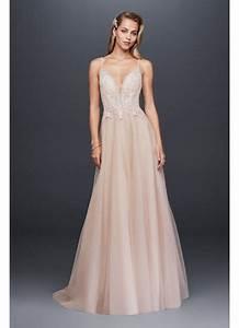 sheer beaded bodice organza a line wedding dress david39s With beaded organza wedding dress