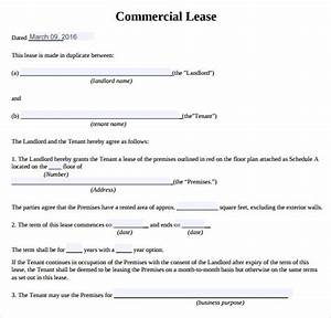 sample commercial lease agreement 9 example format With commercial lease document template