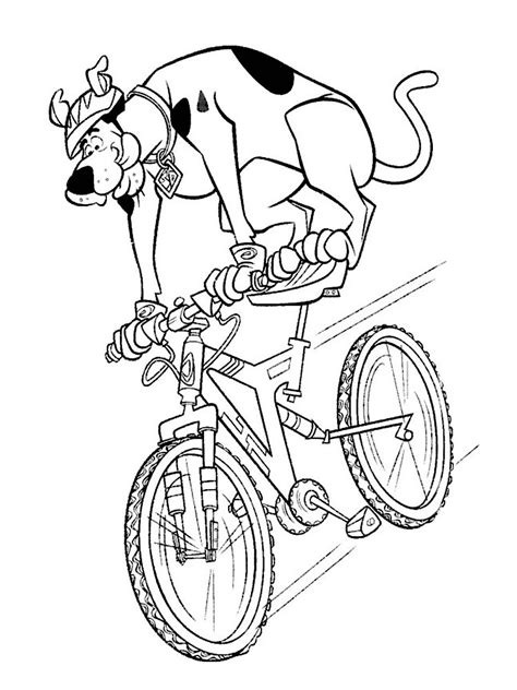 bicycle coloring pages    print