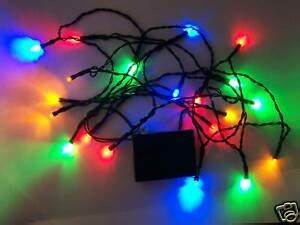 50 Count Window Icicle Lights 20 Led Battery Powered Multicolor Christmas Lights Flash