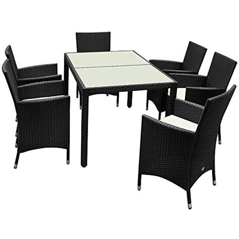 poly rattan garden furniture dining table and chairs set