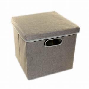 Korb Mit Deckel Bad : aufbewahrungsbox mit deckel 27x28x30 cm schwarz grau beige kiste box korb kaufen bei pfauenhof ~ Whattoseeinmadrid.com Haus und Dekorationen