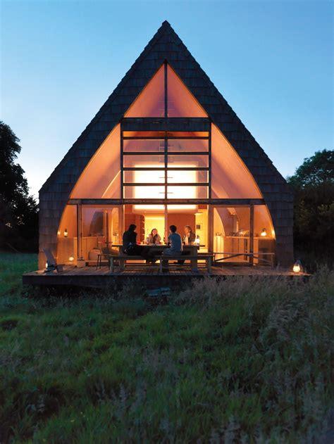 modern wooden  frame retreat  france dwell