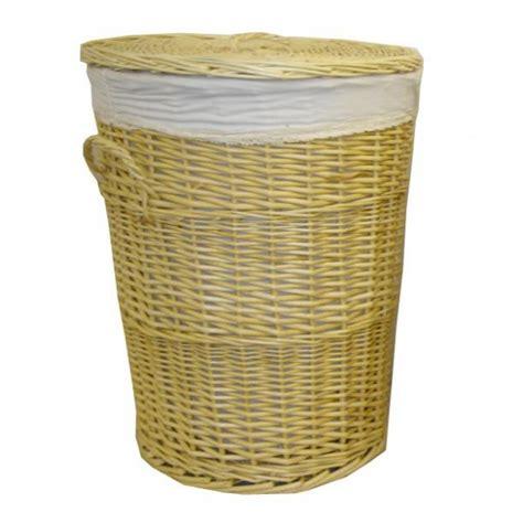 coffre a linge osier coffre 224 linge rond osier fendu tissu la vannerie d aujourd hui