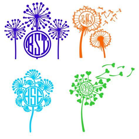 dandelion flowers svg cuttable frames