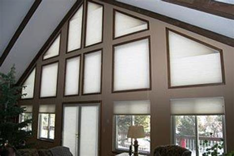 Motorized Window Coverings by Motorized Trapezoid Honeycomb Shades Abda Window Fashions